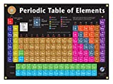 Graphic Education Periodic Table of Elements Vinyl Poster Up to date 2018 Version (22.75 in x 16 in); hanging eyelets - Chart for Serious Students, Teachers, Chemistry Professionals