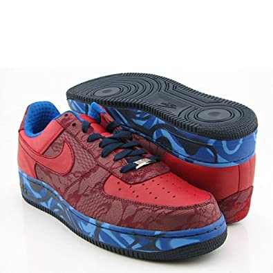 7a49c4efef144 Nike Air Force 1 Premium '07 Red Blue 315180-661 10.5