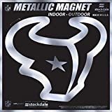 "Houston Texans 6"" MAGNET Silver Metallic Style Vinyl Auto Home Football"