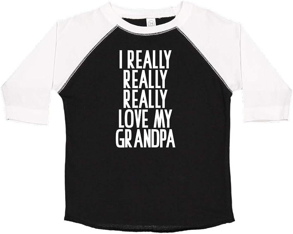 I Really Really Really Love My Grandpa Toddler//Kids Raglan T-Shirt