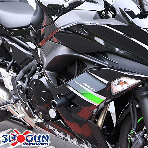 Shogun Kawasaki Ninja 650 Z650 Z 650 2017 2018 2019 Black No Cut Frame  Sliders 750-4519 - MADE IN THE USA