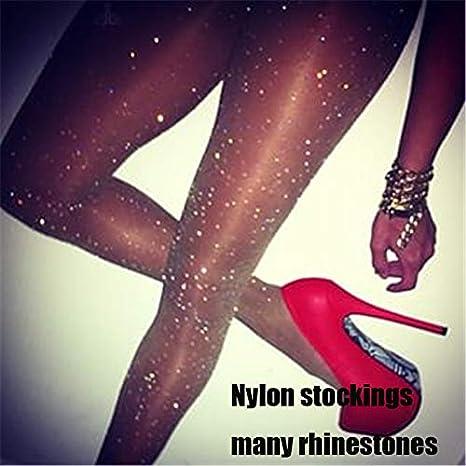 Amazon.com: Dunnomart Women Tights with Crystals Bling Women Stocking Rhinestones Nylon Sheer Pantyhose Party Hosiery Sexy Shiny Medias De: Kitchen & Dining