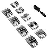 Andis #12995 9 Piece Comb Set for BG, BGC-2, BGR+2, BGRC, BGRV, BGCL, MBG2, Oster 76 - Bundle Includes Classic Barber Blade Brush