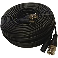 HDView Pre-made All-in-One BNC Video Power Cable Plug and Play Combo Coaxial Cable for HD Megapixel 1080P/720P, TVI, CVI, AHD Analog Camera (Black, 100 ft Feet)