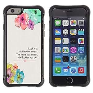 Suave TPU Caso Carcasa de Caucho Funda para Apple Iphone 6 PLUS 5.5 / Floral Flower Spring Poem Message / STRONG