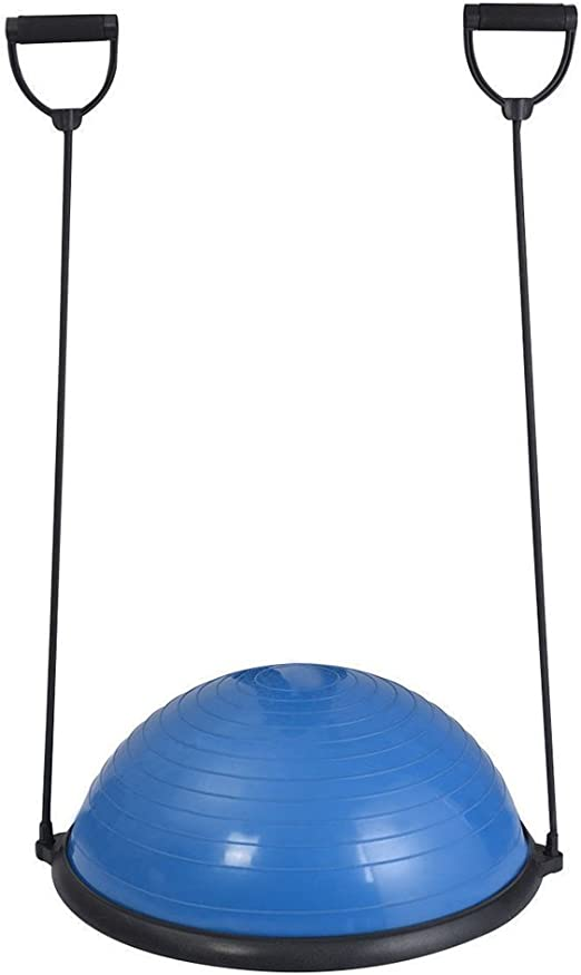 ARLISA Yoga Half Ball Dome Balance Trainer Fitness Strength Exercise Workout with Pump Blue by SKB