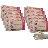 Great Glove - Vinyl Food Service Gloves, Powder Free, 3.5 Mil, Small, Medium, Large, Xtra Large, 1 Case 10 Boxes/100 (X-Large)