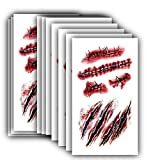 FATHER.SON Cosplay Makeup joke Scratch Wound Scab Blood Scar Tattoos Temporary Tattoo Sticker Wound Zombie Scars(10pcs)