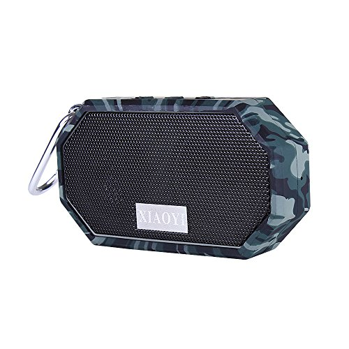 XIAOYI [Waterproof Shockproof Dustproof] Portable Bluetooth Speaker Outdoor and Shower Wireless Bluetooth Speaker with 5-Hour Playtime for Smartphones & Tablets & MP3 & Cell Phones Camouflage
