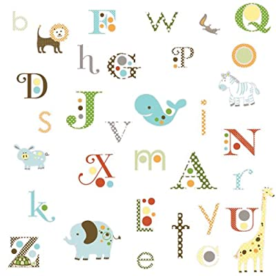 RoomMates Animal Alphabet Peel and Stick Wall Decals: Home Improvement