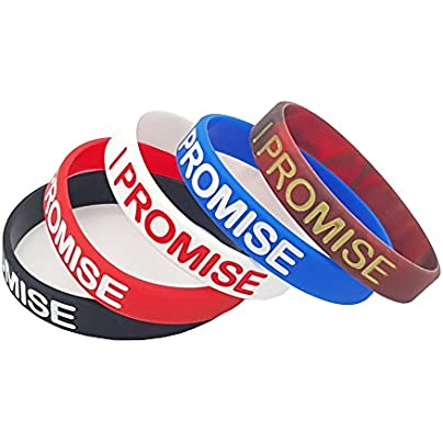 NewSilkRoad Promise Silicone Sport Wristband Bracelet 5Pcs Assorted Color Estimated Price £5.89 -