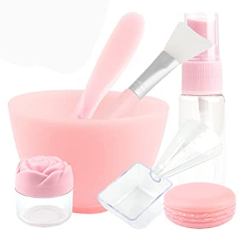 Amazon Com 7 In 1 Diy Face Mask Mixing Tool Large Bowl Simple And