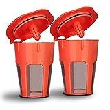 keurig carafe reusable pod - BRBHOM 2 Reusable 2.0 K-Carafe Refillable Coffee Filter Pod Holder for Keurig 2.0 K200,K250, K300, K400, K500 Series of Brewing Machines