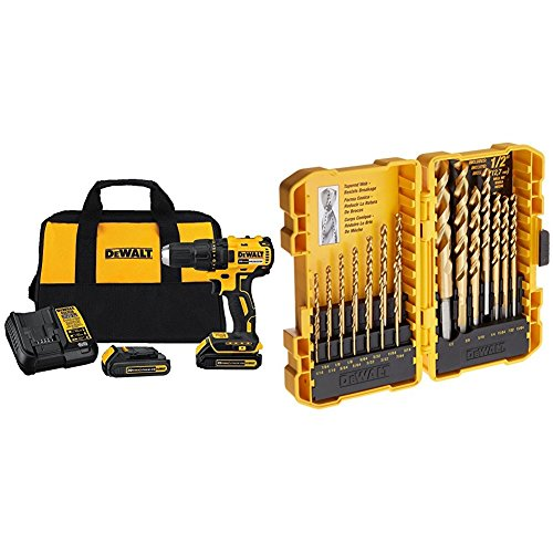 DEWALT DCD777C2 20V Max Lithium-Ion Brushless Compact Drill Driver and Drill Bit Set