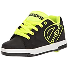 Heelys Boy's Propel 2.0 Running Shoes, Black/Bright Yellow/Ballistic, 5 N US Big Kid