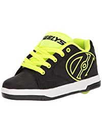 Heelys Boys' Propel 2.0 Sneaker, Black/Bright Yellow - Ships from Canada