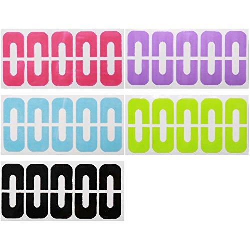 Maniology (formerly bmc) Latex-Free U-Shaped Cuticle Protecting Adhesive Nail Art Tapes - 5 Sheet Set