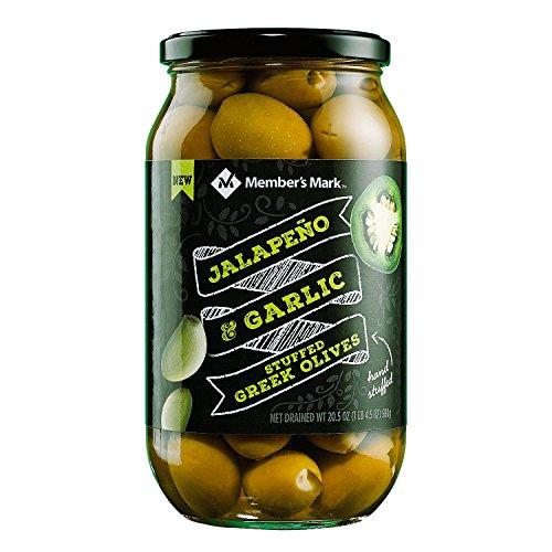 Member's Mark Jalapeno & Garlic Stuffed Olives 20.5 oz. A1 - Olives Jalapeno Green Stuffed