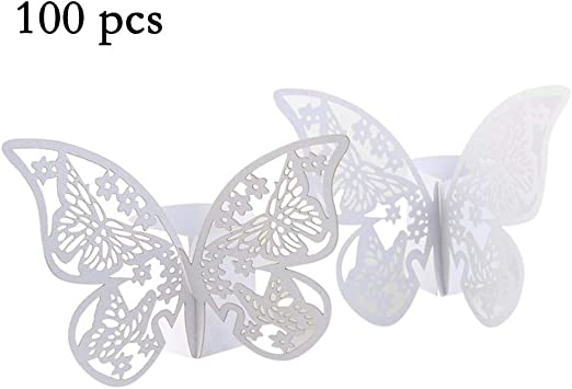 20x Brown and Gold Party Table Decorations 3D Paper Butterflies Wedding Birthday