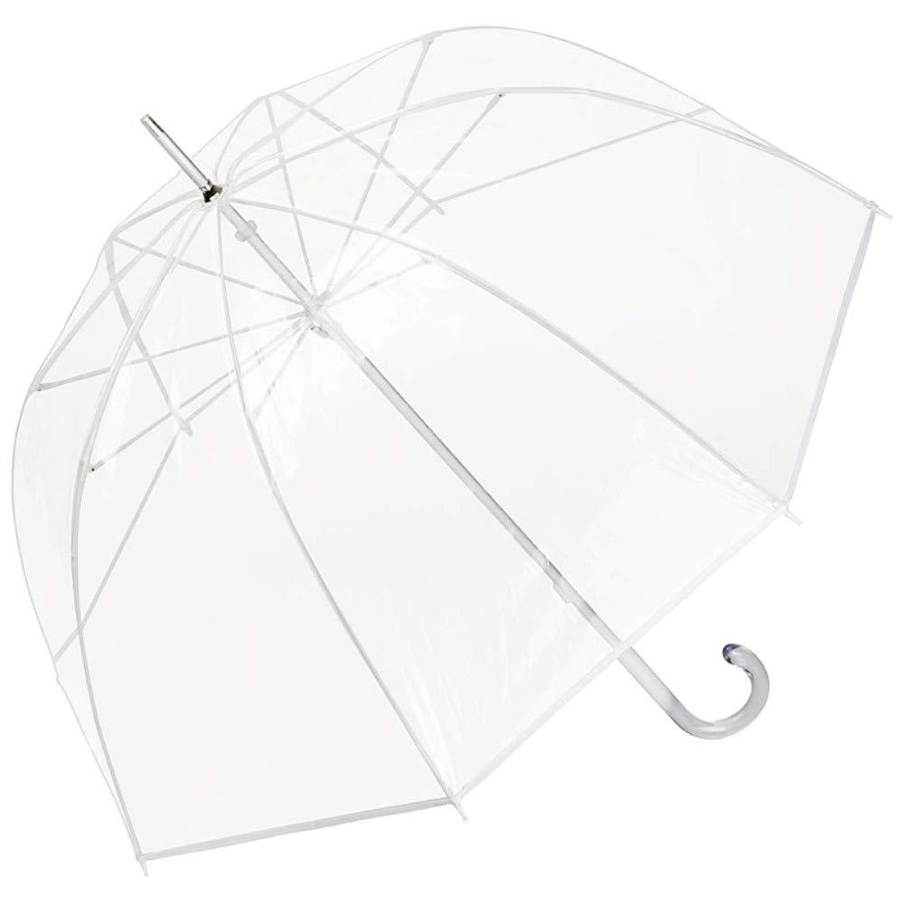 VON LILIENFELD Regenschirm Stockschirm Transparent Durchsichtig Damen Herren Melina wei/ß