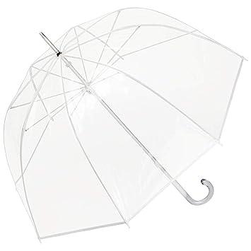 Regenschirm XXL transparent durchsichtig Partnerschirm Automatik groß Regenschut