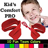 Kid's Comfort PRO Youth Double Sports Mouth Guard Wear with or Without Braces (Red)