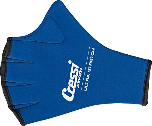 Cressi Aqua Fitness Handschuh Swim Gloves, blau, L, DF200022