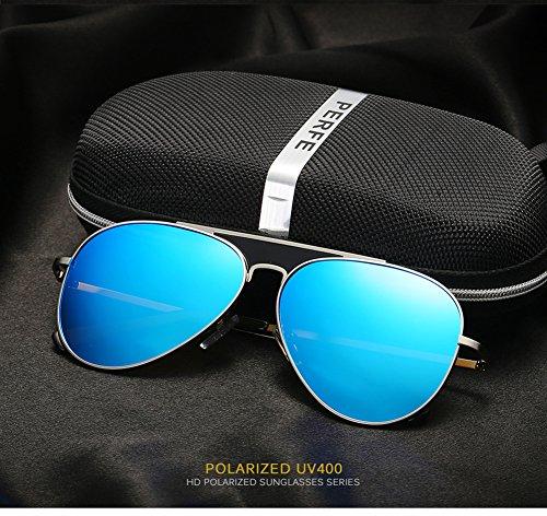 Gafas Sol C2 UV para De Polarizadas para Protección Mujer Aviator C2 400 Hombre ZZS1Oq