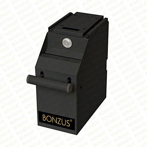 Geldtresor Tresor Pos Safe Geldschrank Kasse Geldzähler Geldkassette Kassensafe Bonzus®(Schwarz)