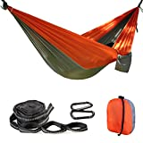 Balichun Single Parachute Hammock with 2 Tree Straps(Per 14 Loops) for Camping Hiking Backpacking