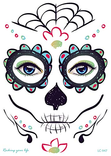 Ownstyle 4pcs Day of The Dead Face Art