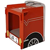 Kidsaw Racing Car Bedside, Wood, Red, 35 x 29 x 29 cm