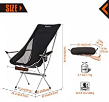 Amazon.com: KingCamp Silla plegable con reposabrazos, ultra ...