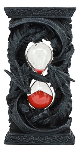 (Ebros Figure 8 Prosperity Hour of The Dragon Invertible Dual Dragon Sandtimer Statue 7