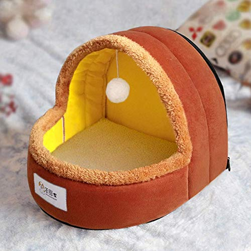 Coffee color 333326cmPet nest, autumn winter cleanable  small medium cat dog bed, 6 colors   3 sizes