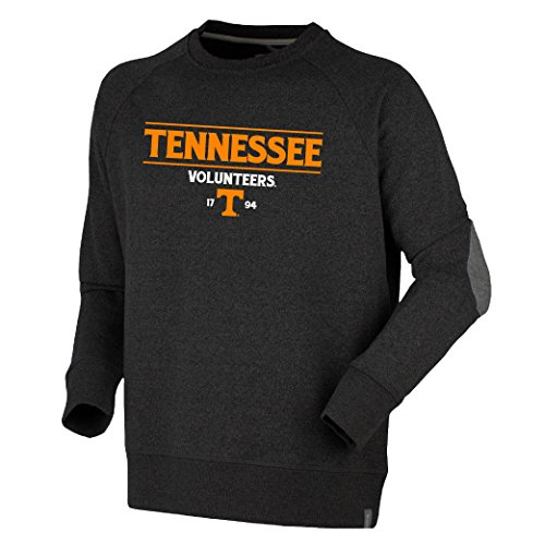 Bruzer NCAA Tennessee Volunteers Mens Oxford Crewoxford Crew, Dark Charcoal, Small