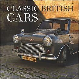 Classic British Cars Calendar 2020 16 Month Calendar Print