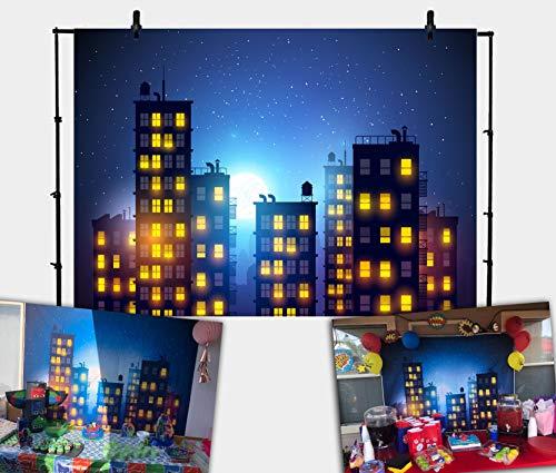 Daniu Photography Background Super Hero City Photo Studio Beautiful Moon Backdrops Vinyl 7x5FT 210cm X 150cm Daniu-sc029]()