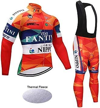 Wulibike Conjunto Ciclismo Hombre Largo Traje Btt Invierno Ropa ...