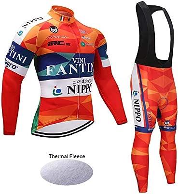 Wulibike Conjunto Ciclismo Hombre Largo Traje Btt Invierno ...