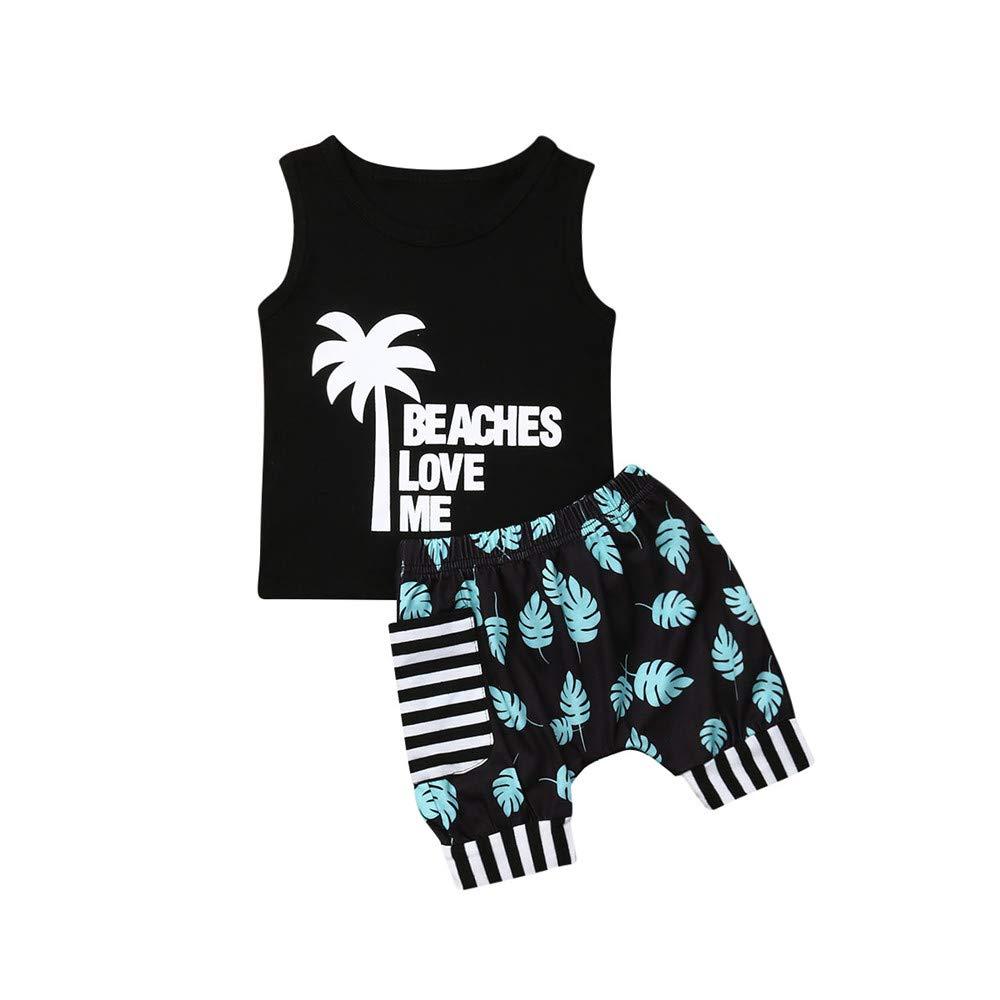 Toddler Baby Boy Camo Tank Top Harem Shorts Summer Outfits Clothes Set
