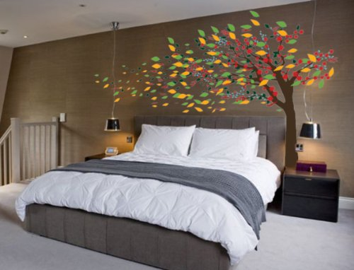 Blowing Tree Cherry Blossom Nursery Wall Decal Wind #1181 (72'' High x 120'' Wide) by Innovative Stencils