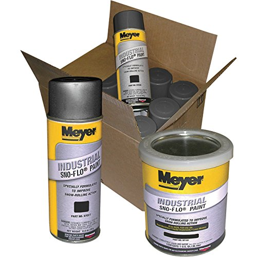 Meyer Sno Flo Paint - Black, 12 Cans, Model# 08676 by Meyer