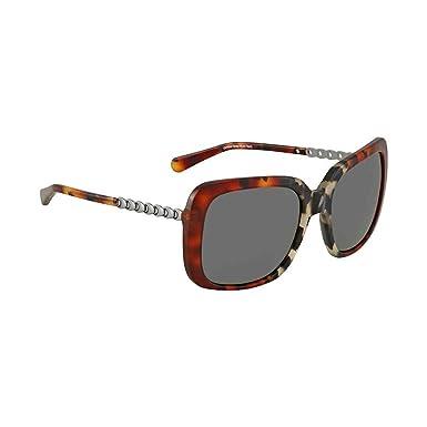 21cfda4c60c Amazon.com  Coach Women s HC8237 Sunglasses Amber Grey Multi Tort Dark Grey  Solid 57mm  Clothing