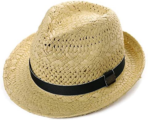 Cappello Estivo da Uomo in Paglia con Tesa Corta e Fascia Ripiegabile Comhats