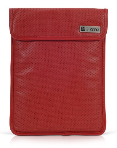 (iHome Perforated Sleeve: 13 inch Laptop Sleeve for Mac - Red/Black (IH-C2040R))