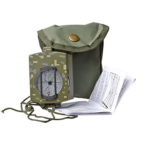 Wailea Fitness Military Lensatic Sighting Compass with Water Resistant - Wailea Map