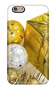 6 Scratch-proof Protection Case Cover For Iphone/ Hot Christmas Golden Decorations Xmas Santa Claus Holiday Christmas Phone Case wangjiang maoyi