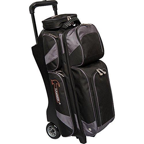 Hammer Premium Triple Roller Bowling Bag, - Bag 3 Bowling Hammer Ball