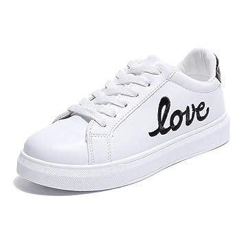 QQBL Zapatos De Las Mujeres De Las Zapatillas Blancas, Aumento Interno Alto, Solos Zapatos